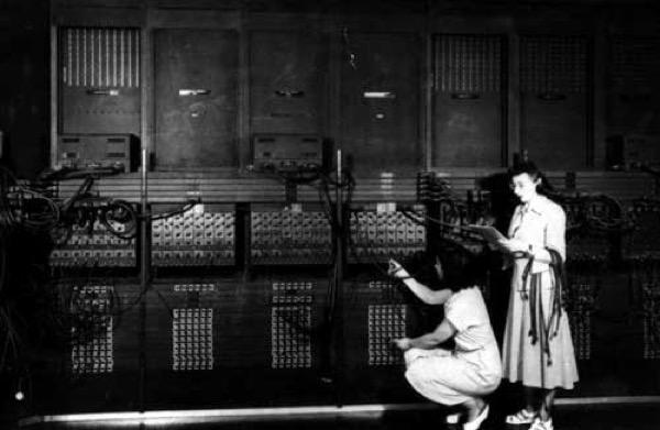 ENIAC computer programmed by women computers