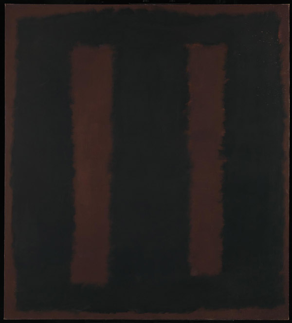 Mark Rothko Black on Maroon