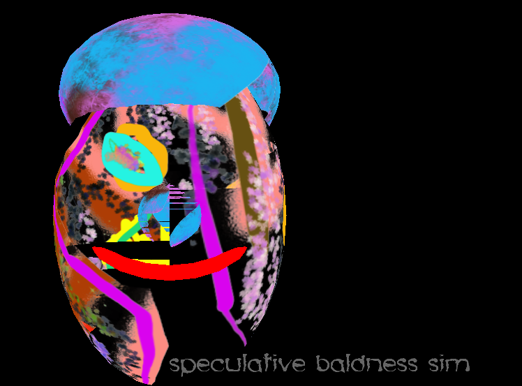 speculative baldness simulator code sketch